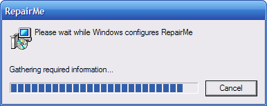 MSI self-repair progress bar